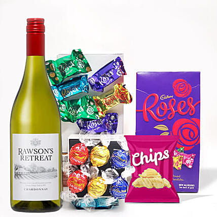 Refreshing Wine And Chips With Assorted Truffles