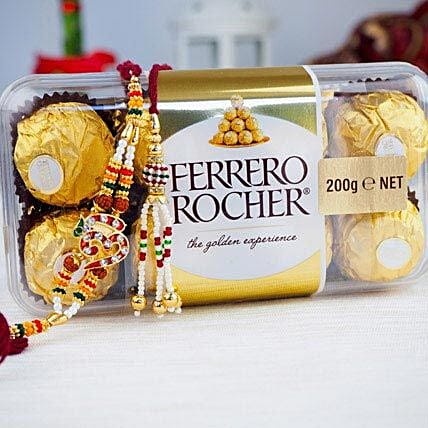 United Two Rakhi set with Farrero Rochar