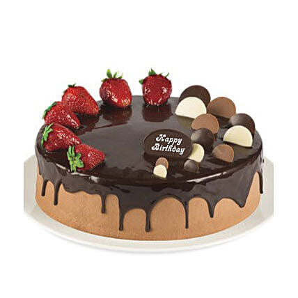 Double Chocolate Strawberry Cake:Cake Delivery in Australia
