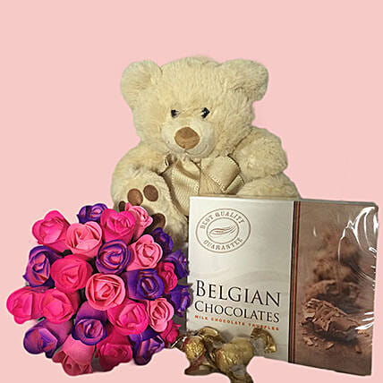 Forever Love Wooden Roses Teddy And Truffles