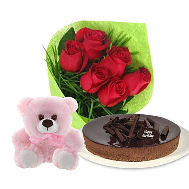 Chocolate Cheesecake Combo:Send Flowers to Australia