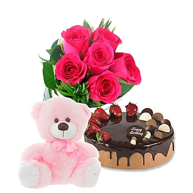 Chocolate Strawberry Cake Combo:Send Flowers to Australia