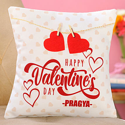 printed cushion for her on vday