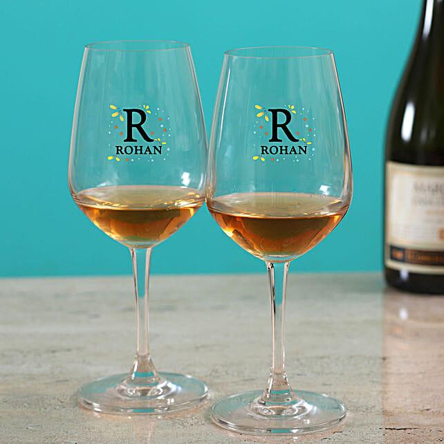 Premium Personalised Wine Glass Set