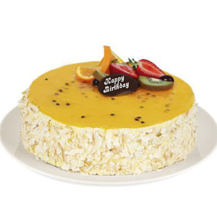 Vanilla Passion Fruit Cake:Vanilla Cake Delivery in Australia
