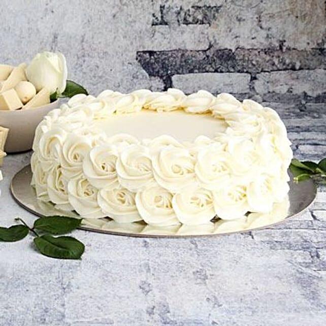White Rose Cake:Send New Year Gifts to Australia