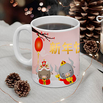 Year Of Ox Best Wishes Mug:Chinese New Year Gift Delivery in Australia