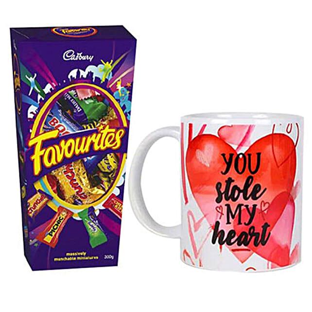 You Stole My Heart Mug And Chocolates Combo