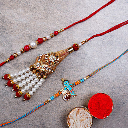 Bhaiya Bhabhi Rakhi With Kid Rakhi:Send Gifts to Austria