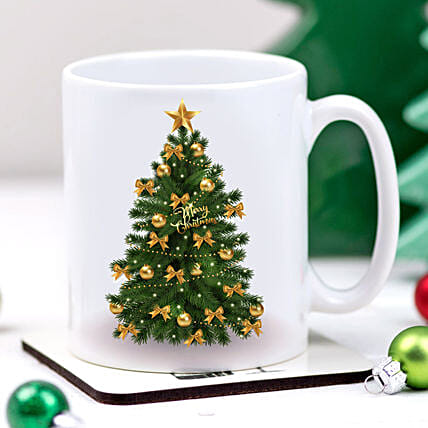 Christmas Tree Printed Mug:Gift Delivery in Austria