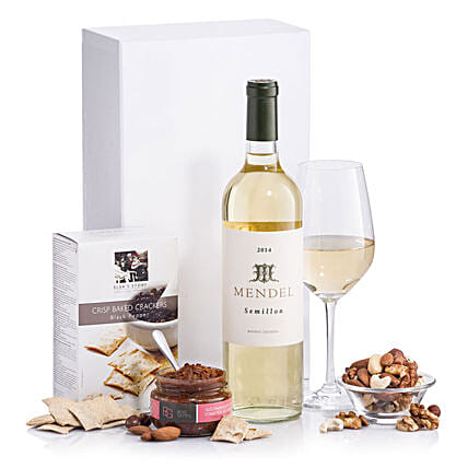 Classic White Wine With Snacks