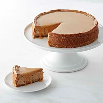 Baked Salted Caramel Cheesecake