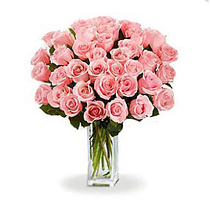 36 Pink Roses Bouquet:Send Anniversary Gifts to Canada