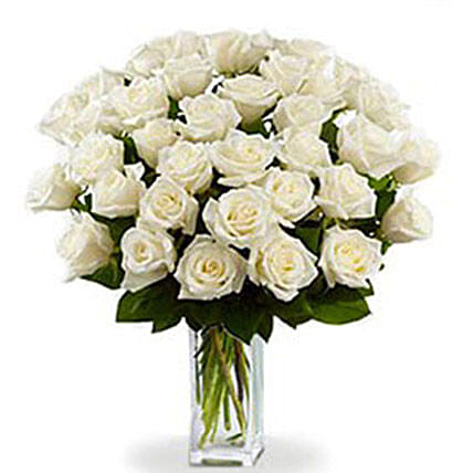 36 White Roses Bouquet:Mother's Day Flower Bouquets in Canada