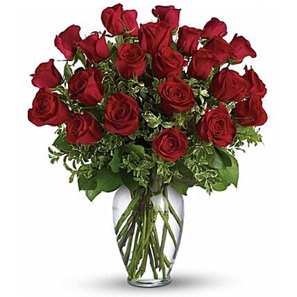 Beautifully Arranged 24 Red Roses