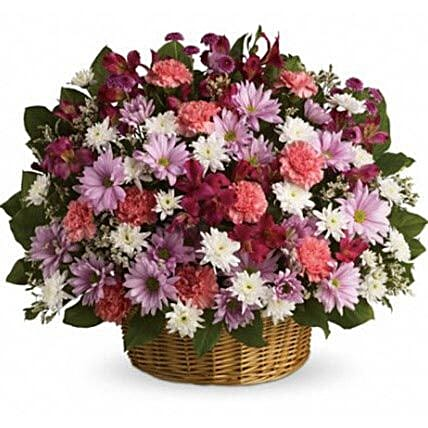 Big Flowers Basket:Send Gerberas Flowers to Canada