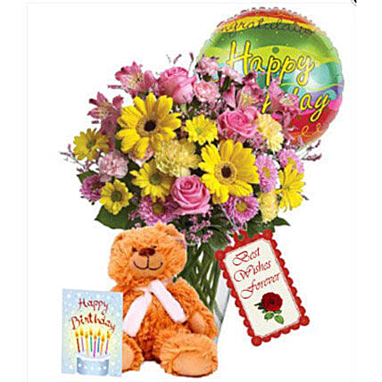 Birthday combo Special:Send Gerberas Flowers to Canada
