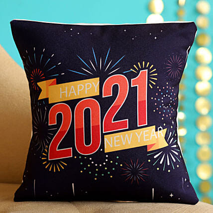 Booming Happy New Year 2021 Cushion:Send New Year Gifts to Canada