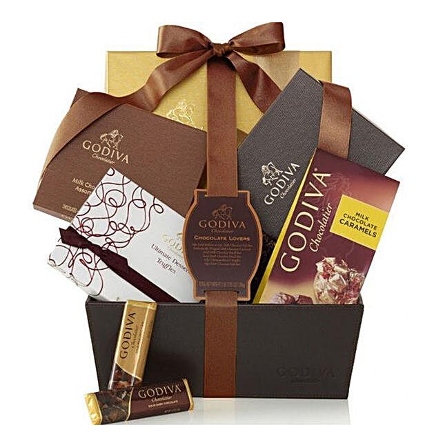 Celebration By Godiva Chocolate Basket