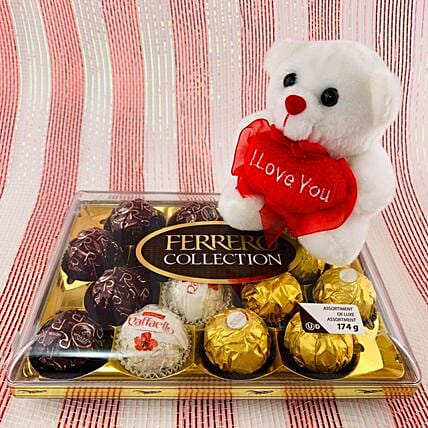 Chocolate Celebrations And Cute Teddy Bear:Send Christmas Gifts to Canada