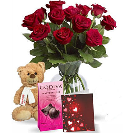 Chocolatey Teddy:Flowers and Chocolates Delivery in Canada