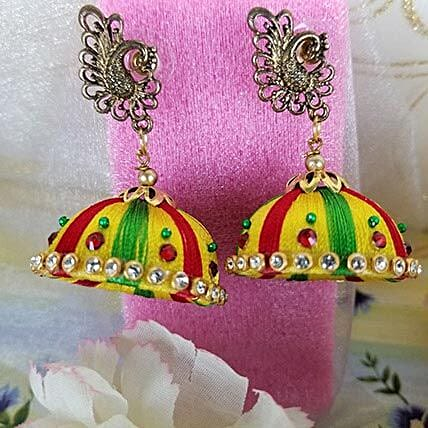 Colored Thread Earrings