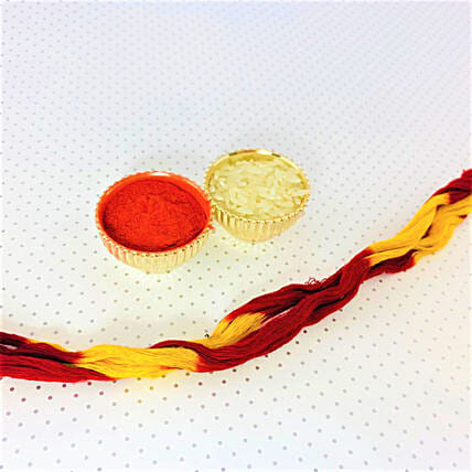 Diwali Special Roli Chawal With Thread Combo