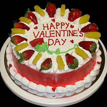 Eggless Valentine Fruit Cake