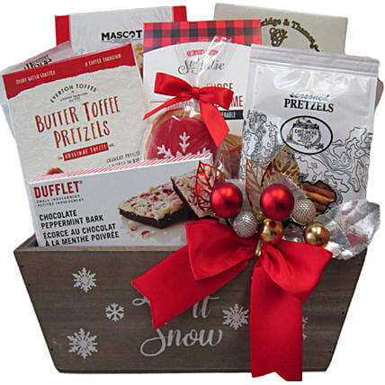Exotic Holiday Celebration Basket For Christmas:Hanukkah Gifts In Canada