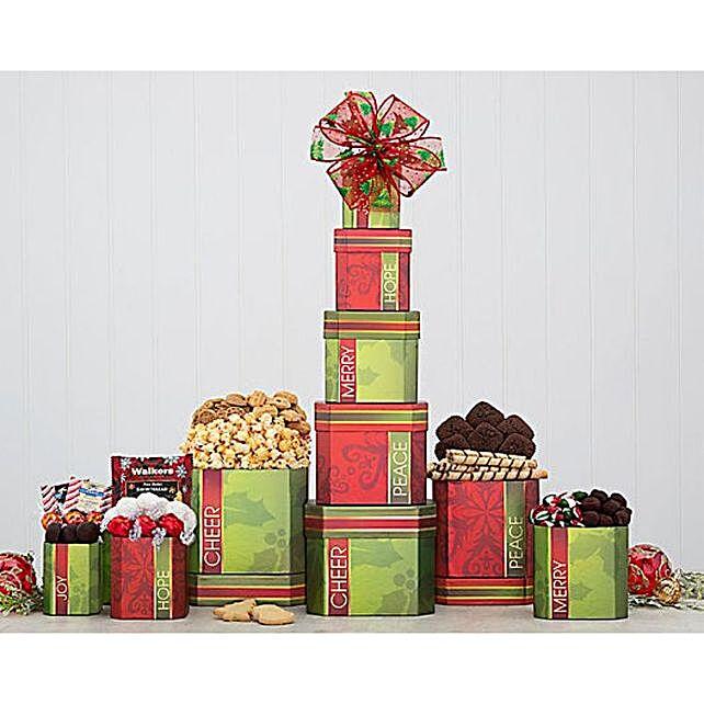 Festive Gourmet Gift Tower:Hanukkah Gifts In Canada