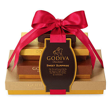 Festive Surprise Collection By Godiva:Christmas Gift Hampers to Canada