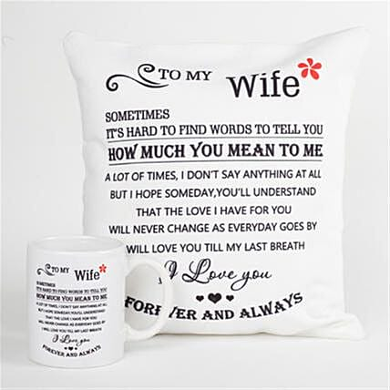 Forever and Always Printed Cushion and Mug