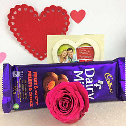 Forever Rose N Chocolate Combo:New Arrival Gifts Canada
