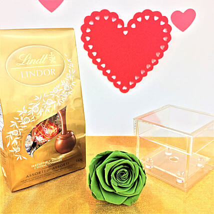 Forever Rose N Lindt Chocolates:Send Forever Roses to Canada