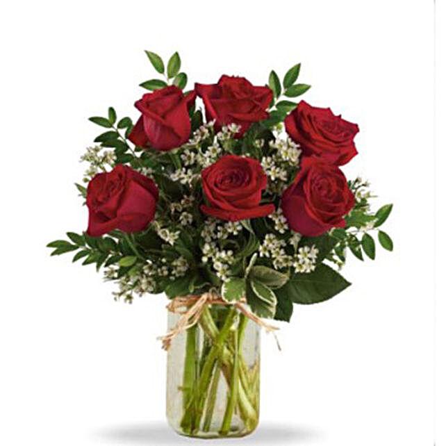 Half Dozen Red Roses