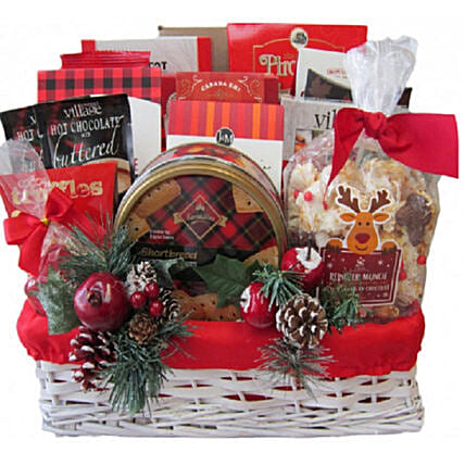 Holiday Traditions Gift Basket For Christmas:Send Christmas Gift Hampers to Canada