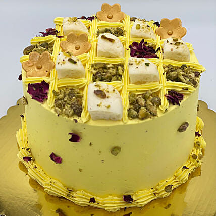 Immensely Tasty Rasmalai Eggless Cake:Canada Gifts for Birthday