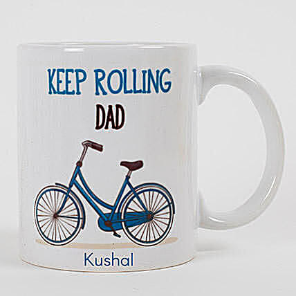 Keep Rolling Personalized Mug For Dad