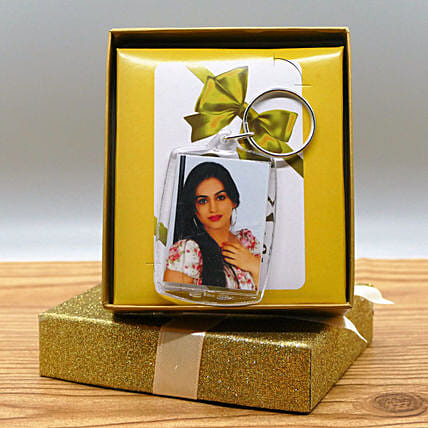 Keychain With Photo And Gift Box
