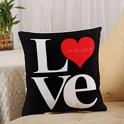 Love Cushion Black