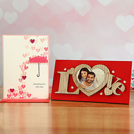 Love Heart Frame Gift Set
