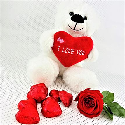 Love You Chocolates And Teddy