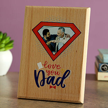 Love You Dad Personalised Wooden Plaque