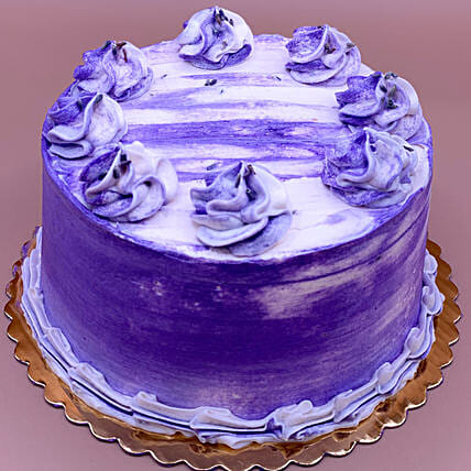 Lovely Earl Grey Lavender Eggless Cake:Canada Gifts for Birthday