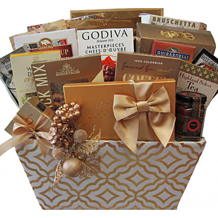 Majestic Holiday Celebration Basket For Christmas:Hanukkah Gifts In Canada