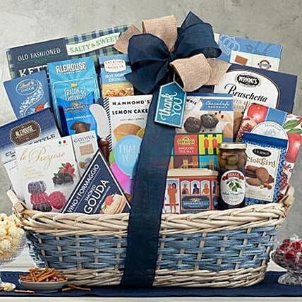Many Thanks Basket:Send Easter Gifts to Canada