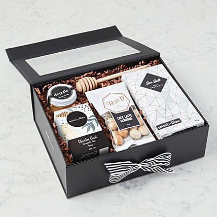 Mothers Day Special Sea Salt Milk Chocolates Hamper:Gift Baskets Delivery Canada