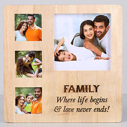 One Personalised Wooden frame with engrave message online