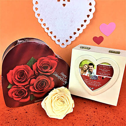 Personalised Box Of Forever Rose