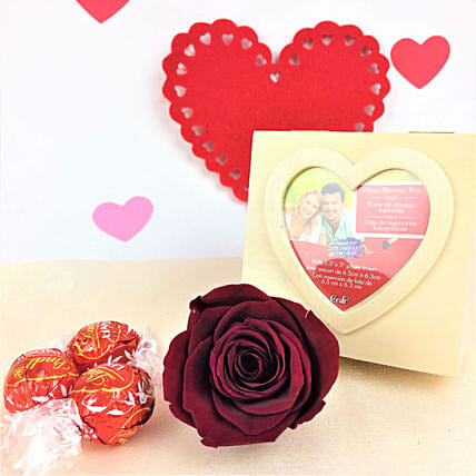 Personalised Forever N Lindt Chocolates Combo:Send Forever Roses to Canada